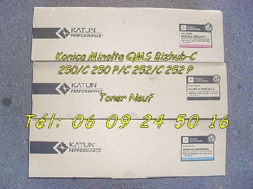 photo de 3 Toners pour Konica Minolta QMS Bizhub C 250 252 P