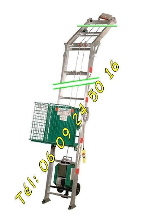 Image Monte matériaux Tuiles haemmerlin Ma415 lève 12m charge 150kg [Petites annonces Negoce-Land.com]