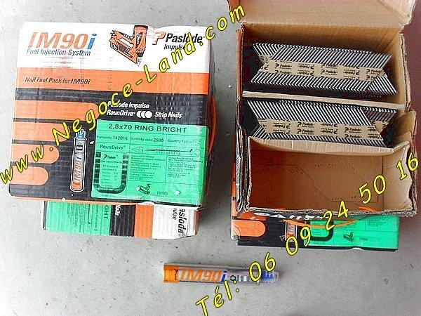 Image 5000 Clous Crantés 2,8x90mm Spit Paslode IM90i [Petites annonces Negoce-Land.com]
