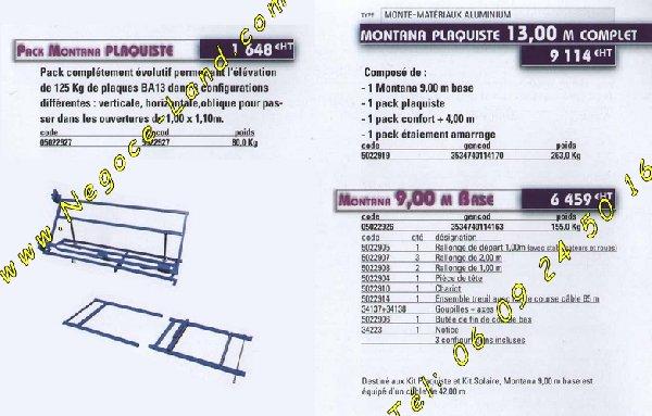 Image Monte tuiles Montana charge 250Kg Révisé + caisse [Petites annonces Negoce-Land.com]