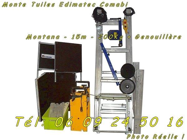 Image Monte tuiles Léve matériaux Edimatec Montana Comabi 15m charge 250Kg [Petites annonces Negoce-Land.com]