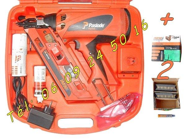 Image Cloueur Spit Paslode IM90i + 5000 clous + gaz [Petites annonces Negoce-Land.com]
