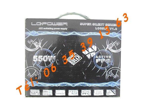 Image Alimentation neuve de PC - LC-Power LC6550 - 550W  [Petites annonces Negoce-Land.com]