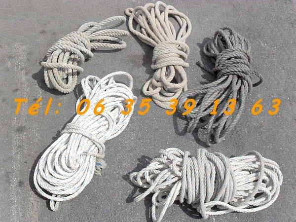 Image Lot de 4 cordes jusqu'à 30m et divers [Petites annonces Negoce-Land.com]