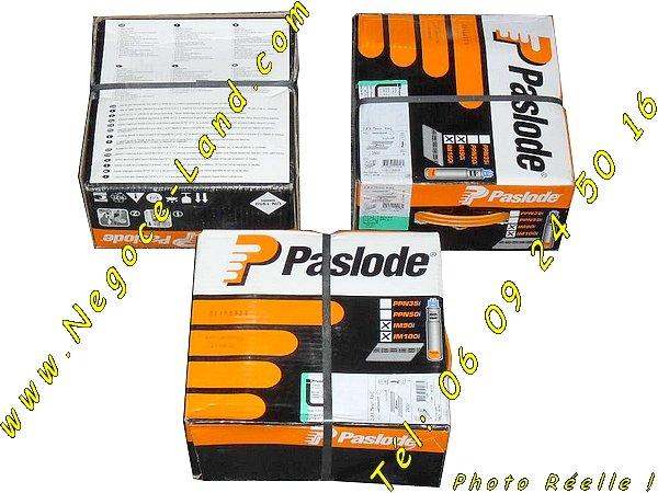 Image Pack de 2500 clous crantés 2,8x90mm + Gaz Spit Paslode  [Petites annonces Negoce-Land.com]