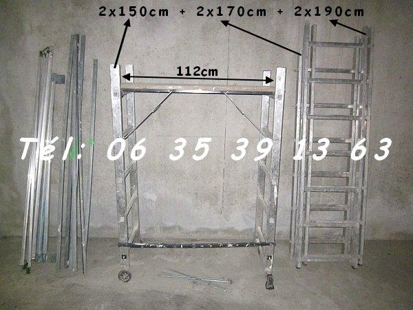 El ments d echafaudage alu d int rieur hauteur 5 10m for Location echafaudage escalier interieur