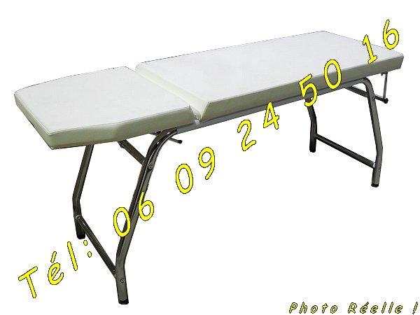 table de soin chrom en ska blanc d montable negoce land com. Black Bedroom Furniture Sets. Home Design Ideas
