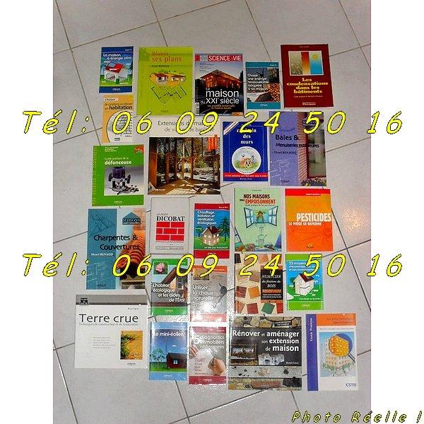 25 Livres, dictionnaire, revue, guide pratique de techniques de rénovation [Petites annonces Negoce-Land.com]