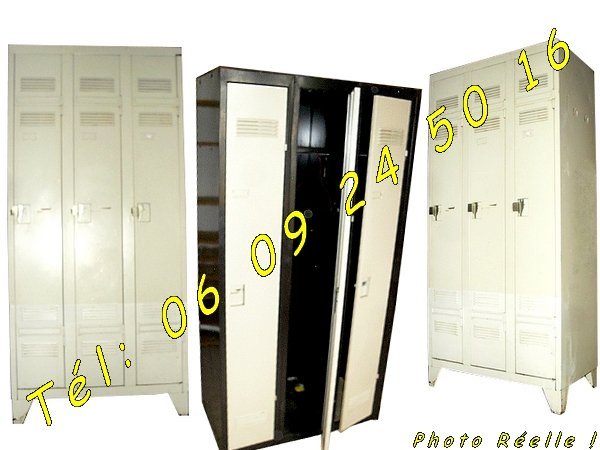 2 armoires m talliques vestiaires 3 portes industrielles negoce land com. Black Bedroom Furniture Sets. Home Design Ideas