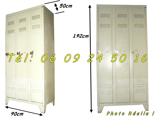 2 armoires m talliques vestiaires 3 portes industrielles negoce land com - Porte sectionnelle industrielle occasion ...
