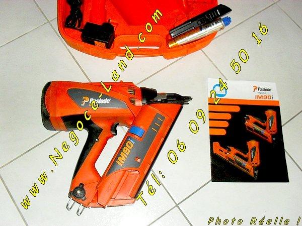 Image Cloueur à gaz Automatique Spit Paslode Impulse IM90i + accessoire [Petites annonces Negoce-Land.com]