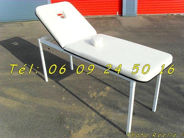 table de soin en ska cuire blanc d montable negoce land com. Black Bedroom Furniture Sets. Home Design Ideas