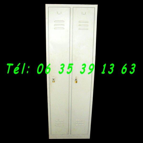 Armoires m tallique vestiaire industielle 2 portes negoce - Armoire metallique industrielle occasion ...