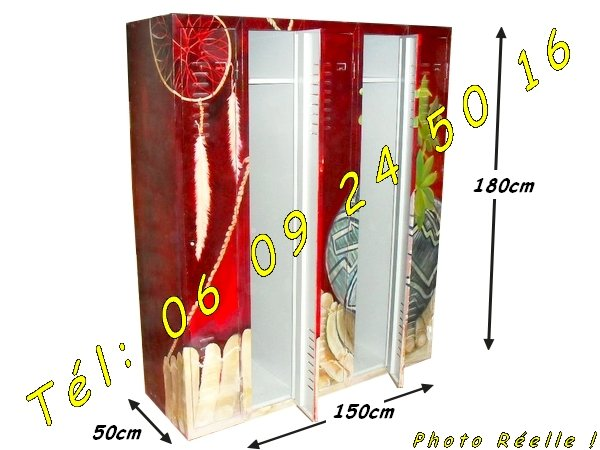 Armoire vestiaire m tallique industrielle 5 portes graff e - Armoire metallique industrielle occasion ...