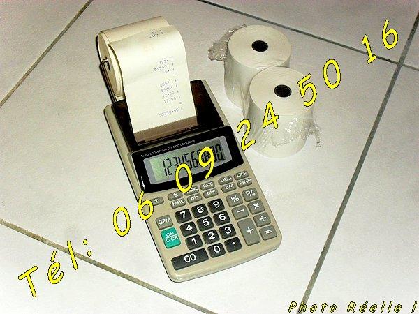 Image Calculatrice Electronique P10H transportable + rouleaux bobine [Petites annonces Negoce-Land.com]