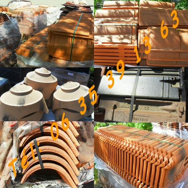 Lots Tuiles Romanes Canales Abeilles Imerys Terreal