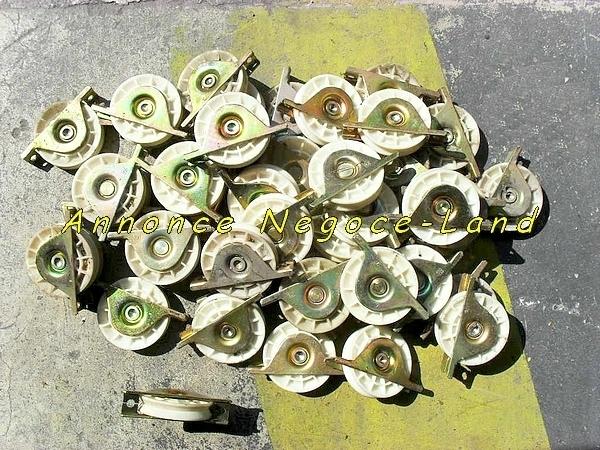Image Lot Roues de support à gorge en V Ø100mm Neuves [Petites annonces Negoce-Land.com]