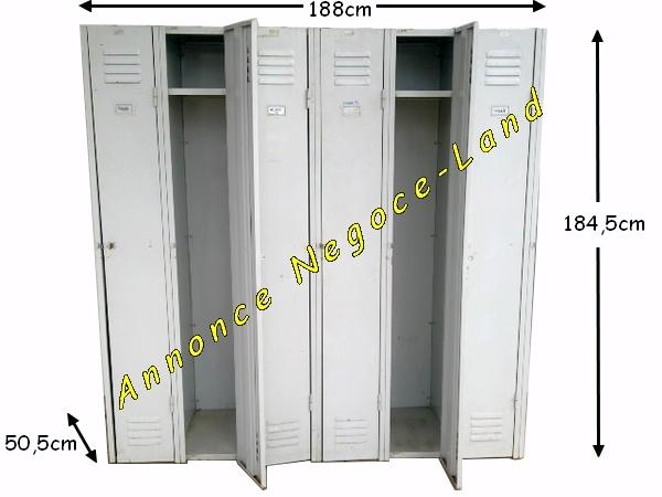 Bien connu Armoire vestiaire 6 portes métallique industrielle à cadenas  IG68