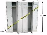 Armoire vestiaire 6 portes m tallique industrielle cadenas et be - Armoire industrielle occasion ...