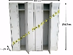 Armoire vestiaire 6 portes m tallique industrielle - Armoire metallique industrielle occasion ...