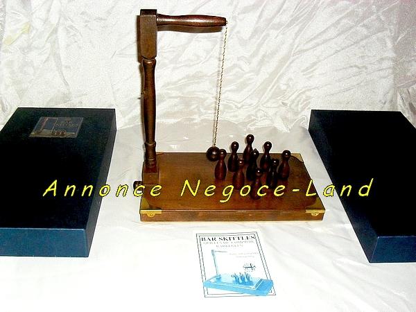 Image Jeux de quilles de comptoir en Bois (Housse of Marbles) [Petites annonces Negoce-Land.com]