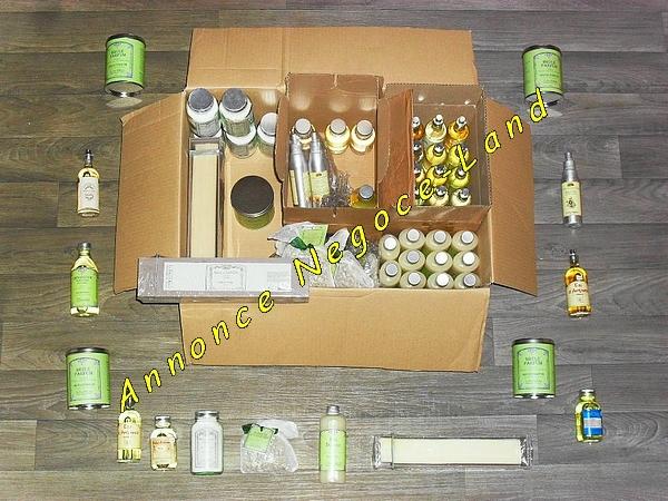 Image Lot produits senteur parfumée zen Le Père Pelletier [Petites annonces Negoce-Land.com]