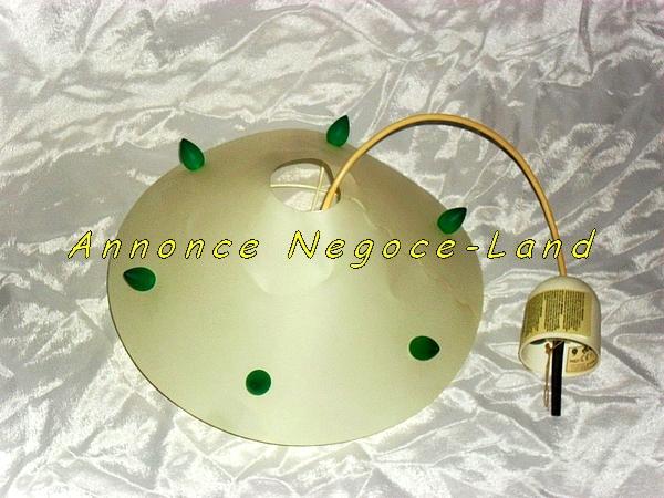 Image Lampe plafond Arditi couleur Ivoire et verte [Petites annonces Negoce-Land.com]