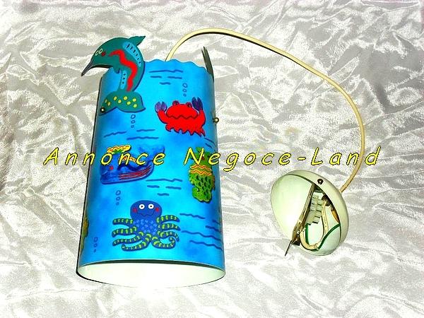 Image Lampe de plafond pour enfant animaux aquatiques (Neuve) [Petites annonces Negoce-Land.com]