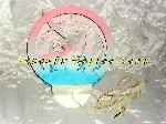 Lampe murale ronde Dauphins et bateaux rose et bleu offre Décoration [Petites annonces Negoce-Land.com]