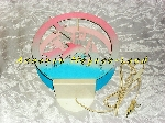 Image Lampe murale ronde Dauphins et bateaux rose et bleu [Petites annonces Negoce-Land.com]