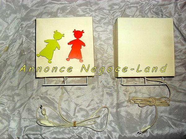 Image Lampe de chevet Sophie Janière crème avec petites filles aimantées [Petites annonces Negoce-Land.com]