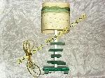 Lampe Haute verte & crème avec pied en Verre Opaque offre Décoration [Petites annonces Negoce-Land.com]
