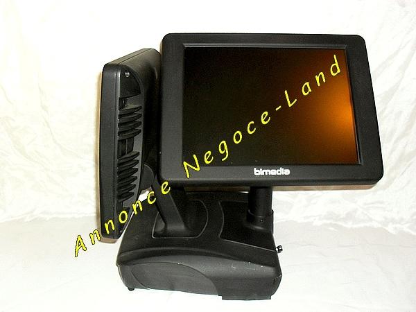 photo de Caisse Enregistreuse tactile BIMEDIA double écran + Douchette + Licence + Imp  (Annonce Negoce-Land)