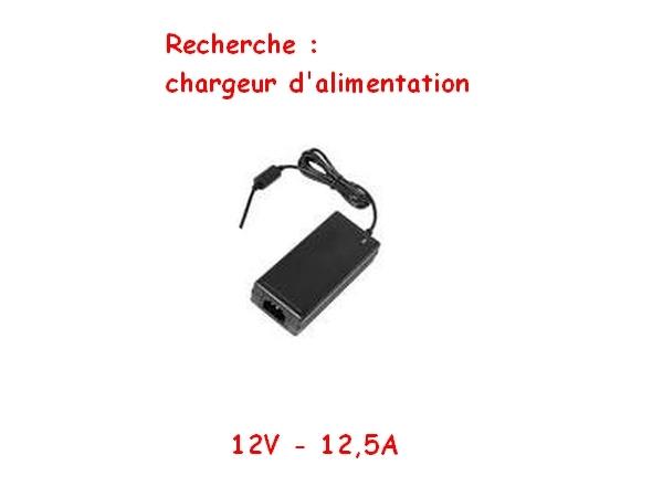 photo de Faire offre - Chargeur d'alimentation externe 12V - 12,5A