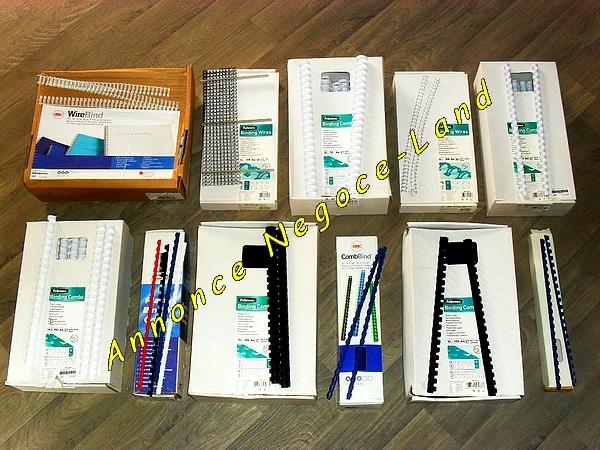 Image Lot Anneaux reliures métalliques & plastique GBC Fellowes IBICO [Petites annonces Negoce-Land.com]