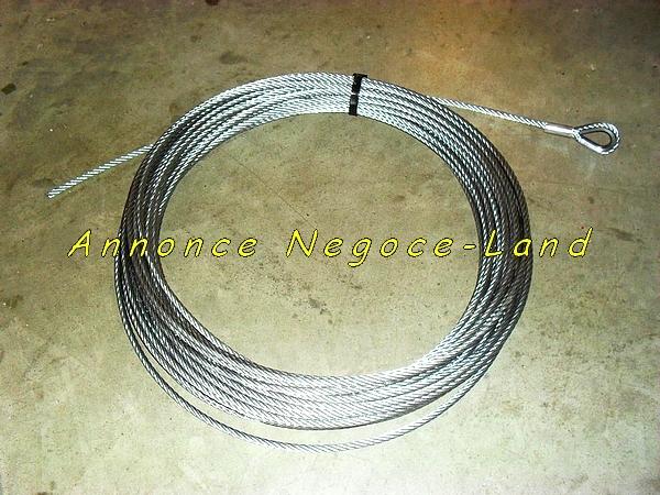 Image Câble Acier de monte charge & matériaux lève tuile (Neuf avec boucle serti) [Petites annonces Negoce-Land.com]