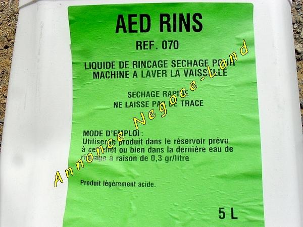 Image Rins : Liquide de rinçage séchage lave-vaisselle industriel [Petites annonces Negoce-Land.com]