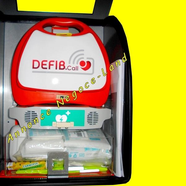 Image Défibrillateur Portatif DEFIB.CALL LifeGuide mural appel secours semi-automatique [Petites annonces Negoce-Land.com]