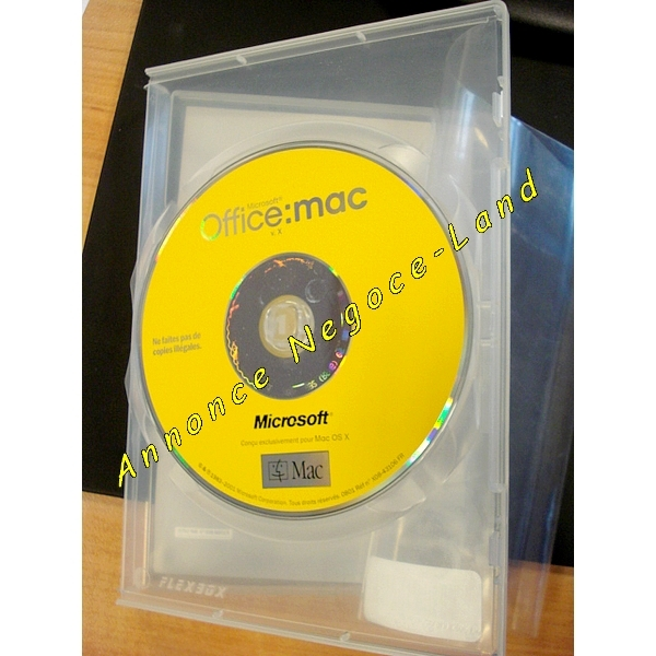 Image Microsoft Office Mac v.X + Licence + CD [Petites annonces Negoce-Land.com]