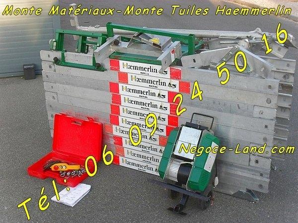 Image Monte-charge monte matériaux Haemmerlin Maxial lève 150kg sur 15m [Petites annonces Negoce-Land.com]