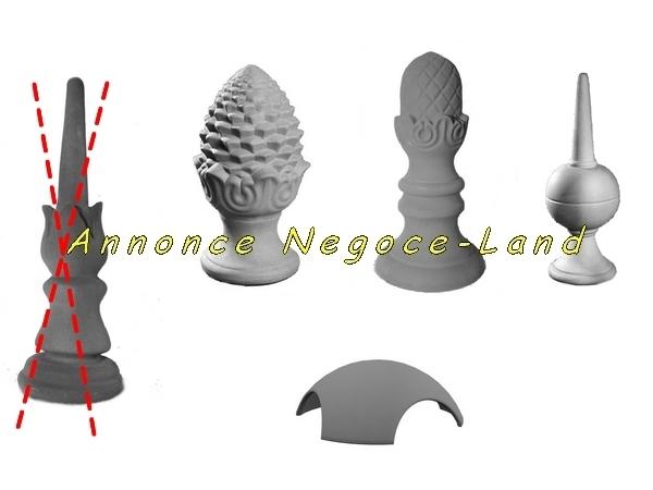 Image Epi de faitage décoratif & Connecteurs (neuf) [Petites annonces Negoce-Land.com]