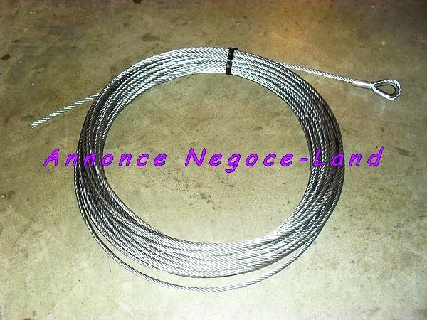 Image Cable pour Monte matériaux Monte tuile Acier Serti bouclé (Neuf) [Petites annonces Negoce-Land.com]