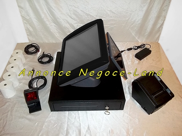 photo de Ensemble caisse enregistreuse tactile SAGA TPV Perimatic  (Annonce Negoce-Land)