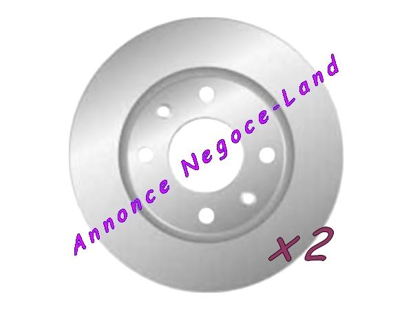 Image Jeu de 2 disques de frein avant Mga D1038 (Neuf) [Petites annonces Negoce-Land.com]