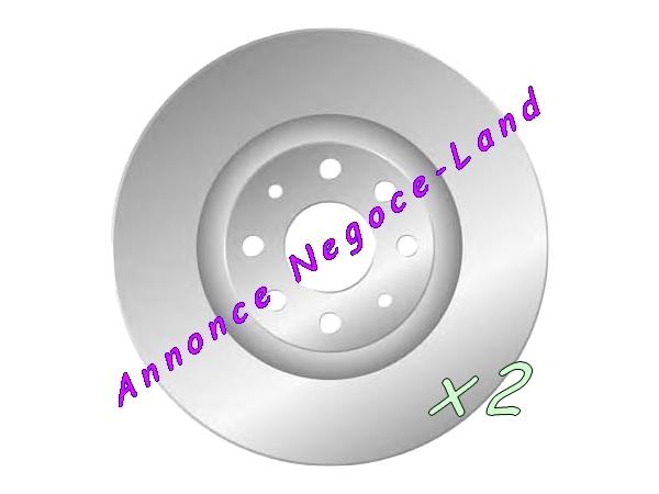 Image Jeu de 2 disques de frein avant Mga D1558 (Neuf) [Petites annonces Negoce-Land.com]