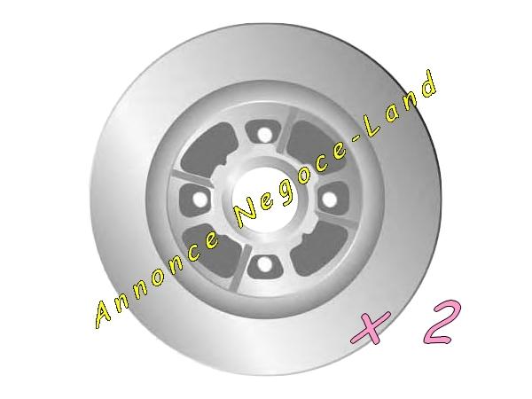 Image Jeu de 2 disques de frein arrière Mga D1428R (Neuf) [Petites annonces Negoce-Land.com]