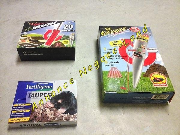 Image Lot de 3 coffrets anti taupe (2 x Le Détaupeur Myriad et 1 Fertiligène) [Petites annonces Negoce-Land.com]