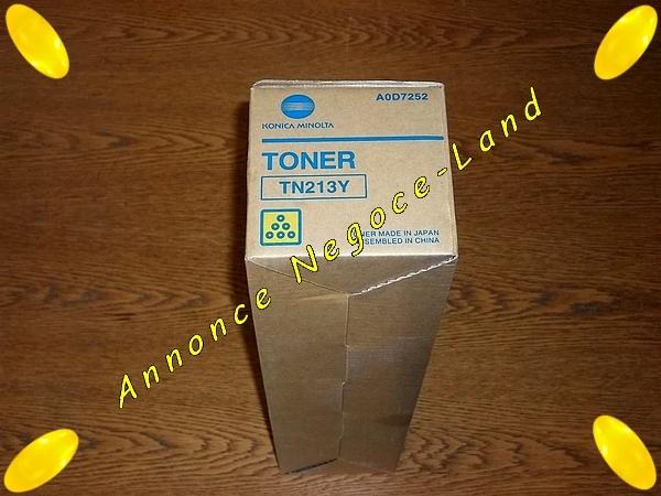 Toner Laser Konica Minolta TN213Y Yellow Jaune (Original Neuf) [Petites annonces Negoce-Land.com]