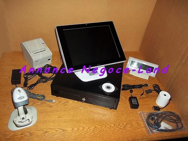 photo de Pack caisse enregistreuse tactile SAGA Blanche TPV (jolie & quasi neuve)