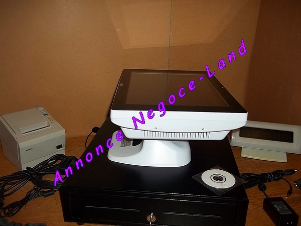 pack caisse enregistreuse tactile saga blanche tpv jolie quasi neuve negoce land com. Black Bedroom Furniture Sets. Home Design Ideas